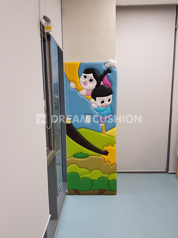 드림쿠션 dreamcushion 다산도서관 해님달님 디자인벽쿠션 안전쿠션