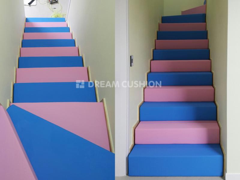 드림쿠션 dreamcushion 가정집 계단쿠션 복층계단 안전쿠션 벽쿠션 보호쿠션
